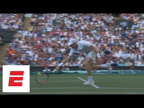 Novak Djokovic loses Wimbledon break on weird double-bounce shot by Kyle Edmund | ESPN