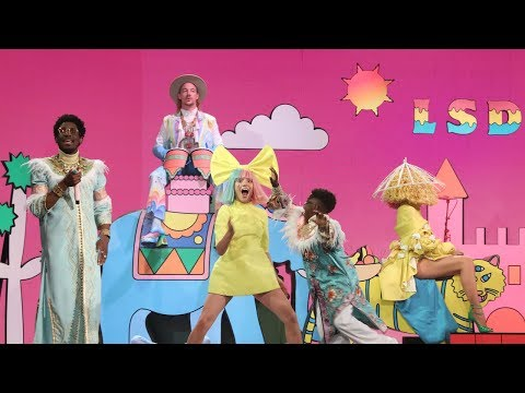 LSD's Colorful Performance Of 'No New Friends'
