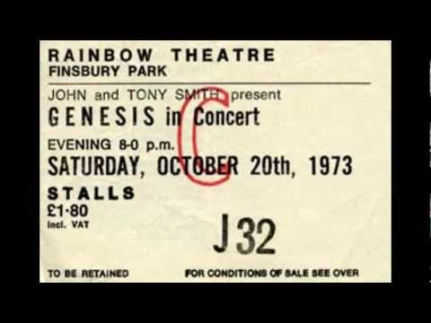 Genesis Live 1973 in London / England Full Concert + Download link ( Radio broadcast )