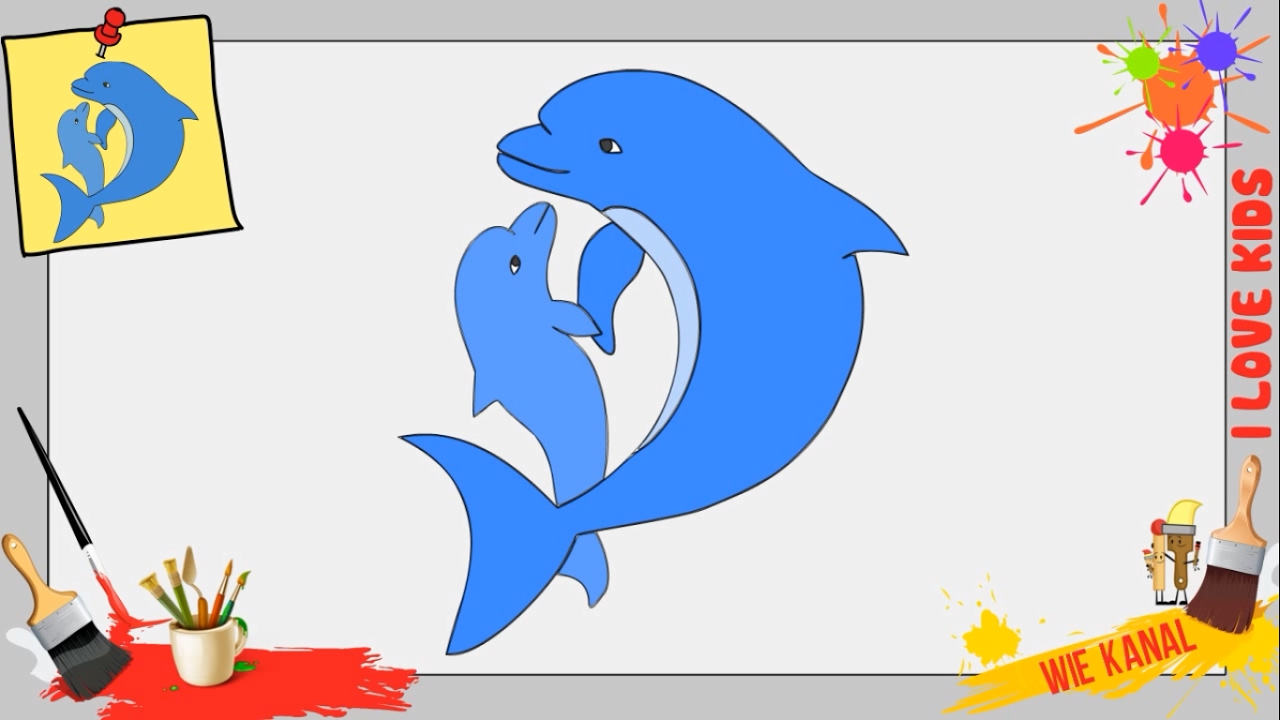 Ausgezeichnet Delphin Malvorlagen Für Mädchen Ideen - Beispiel ...