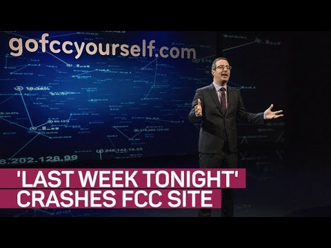 'Last Week Tonight' takes on the FCC, crashes its site (again)