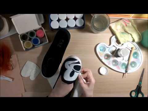 DIY: Микки Маус на кедах