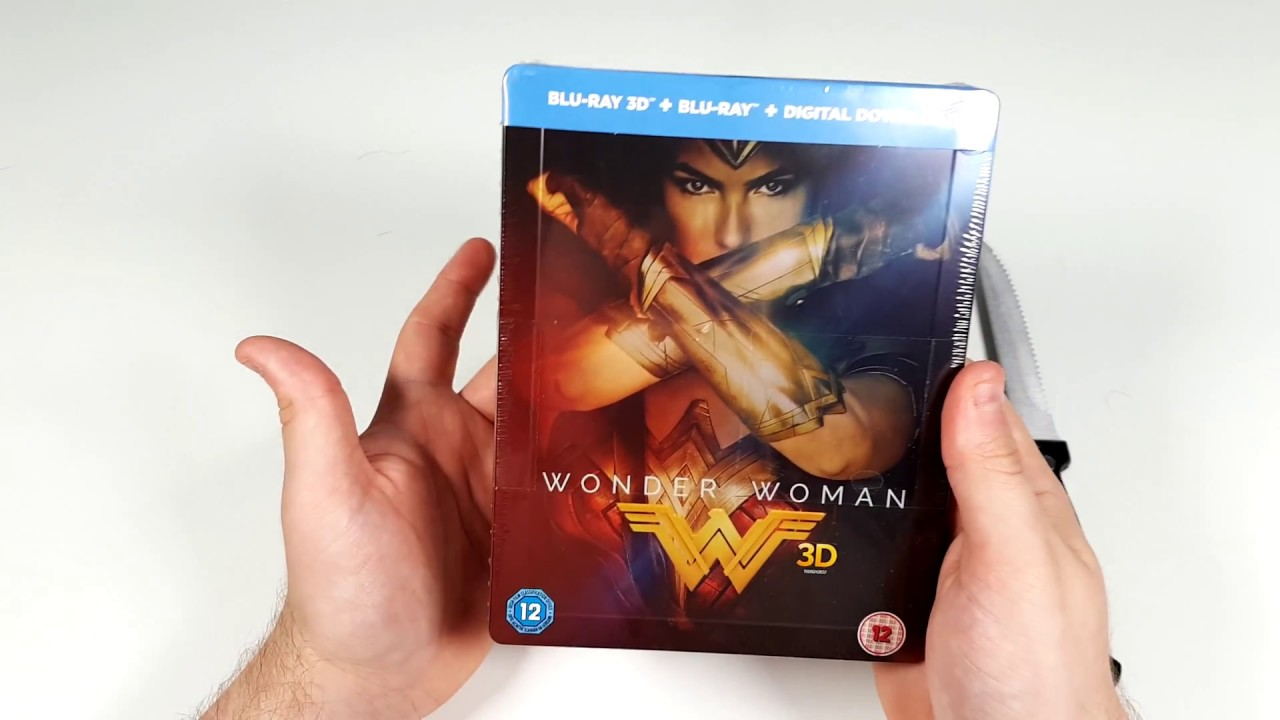 Wonder Woman 3d Blu Ray Steelbook Unboxing