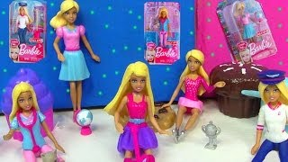 Mini Barbie Dolls I Can Be Toy Review Pet Check Up Doctor Vet Ice Skater Teacher Pilot Pop Star