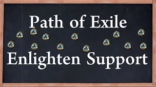 Poe Enlighten Support Drop Farming Price Guide Enlighten is primarily used to decrease the amount of mana reservation of linked skills. poe enlighten support drop farming price guide