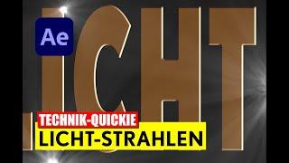 After Effects: Lichtstrahlen schnell und einfach animieren - Tutorial - deutsch