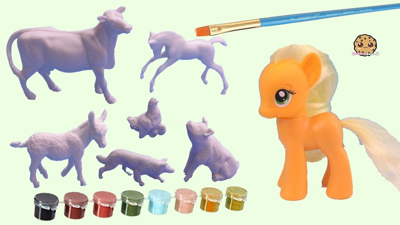 DIY Farm Animals Painting ! Breyer Horses Craft Paint Your Own Set