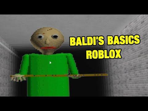 Baldi S Basics Baldi S Basics Roblox Map Youtube
