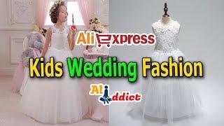 Cheap Floral Neck Elegant Girls Wedding Dress Review