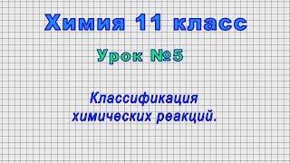 Химия 11 класс (Урок№5 - Классификация химических реакций.)