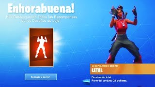 As *UNLOCK* NEW LETAL Gesture in Fortnite... (Skin LUXURY Challenges Level 100 Season 8)