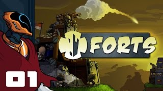 Let's Play Forts - Multiplayer Gameplay Part 1 - 3, 2, 1, Fire!