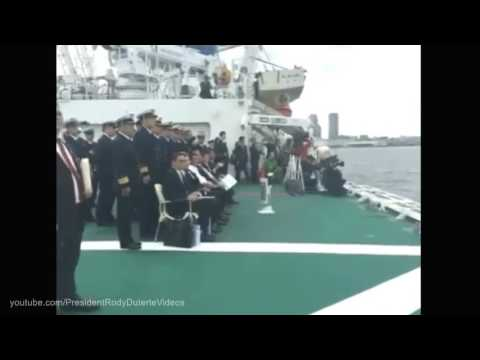 WATCH  PRESIDENT RODRIGO DUTERTE VISITS JAPAN COAST GUARD 10 27 2016