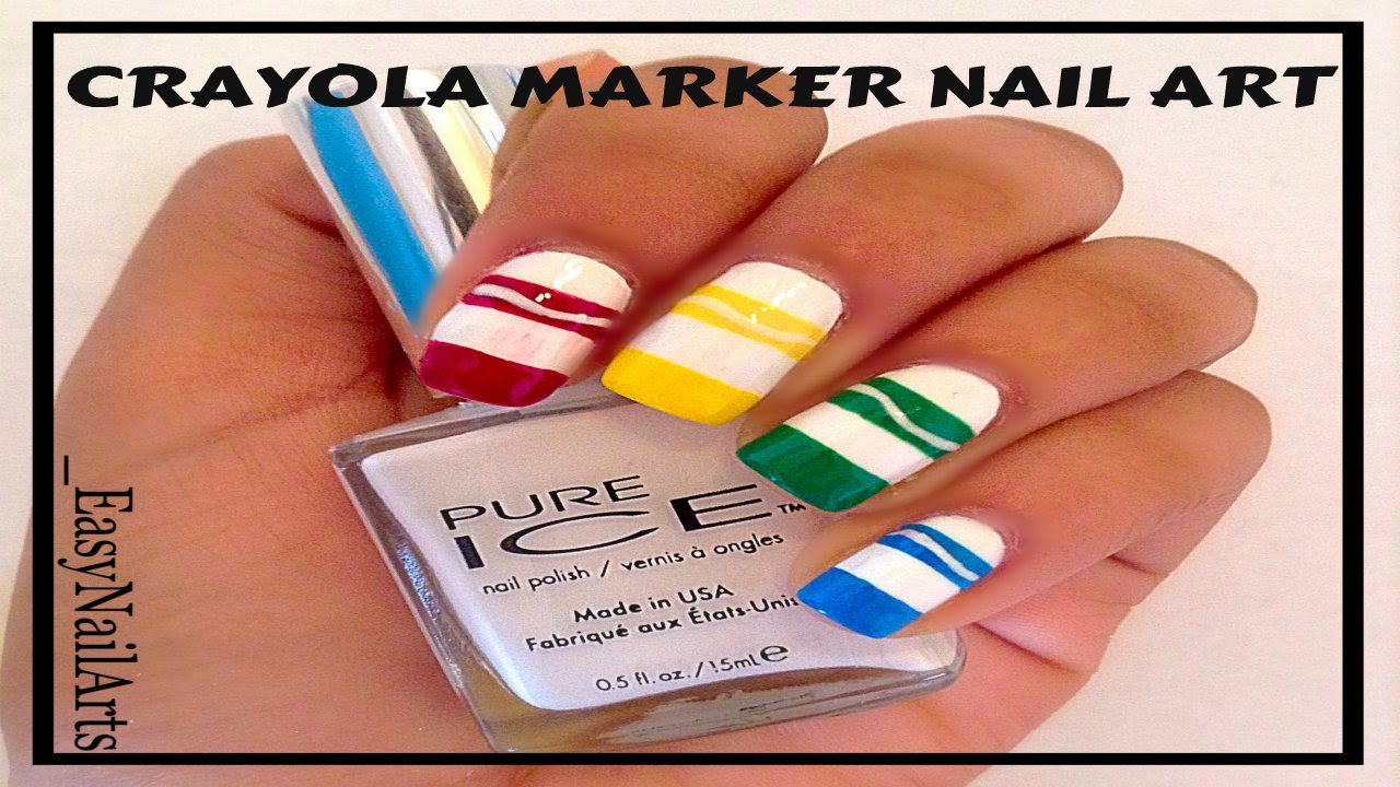 Crayola Marker Nail Art Youtube