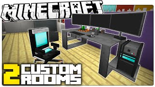 This Minecraft Gaming Room Will Make You DROOL | 2 CRAZY Minecraft Builds (Custom Map)