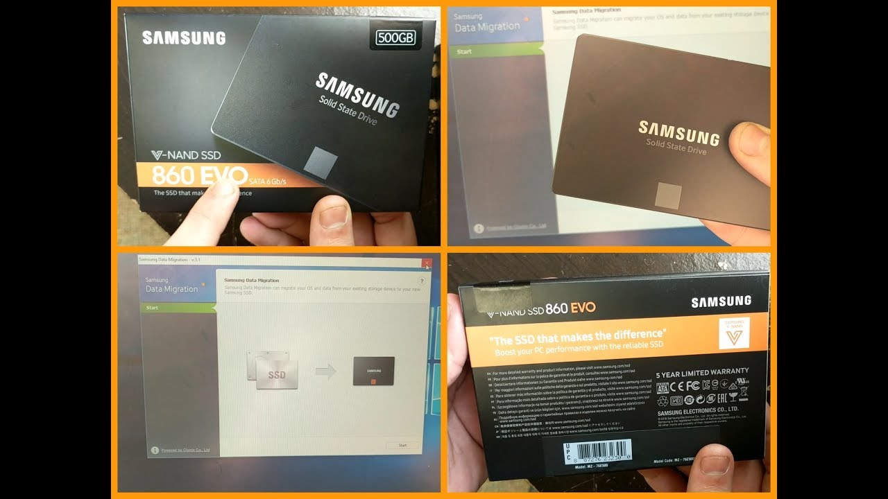 SAMSUNG 860 EVO SSD UNBOXING AND SETUP!!!