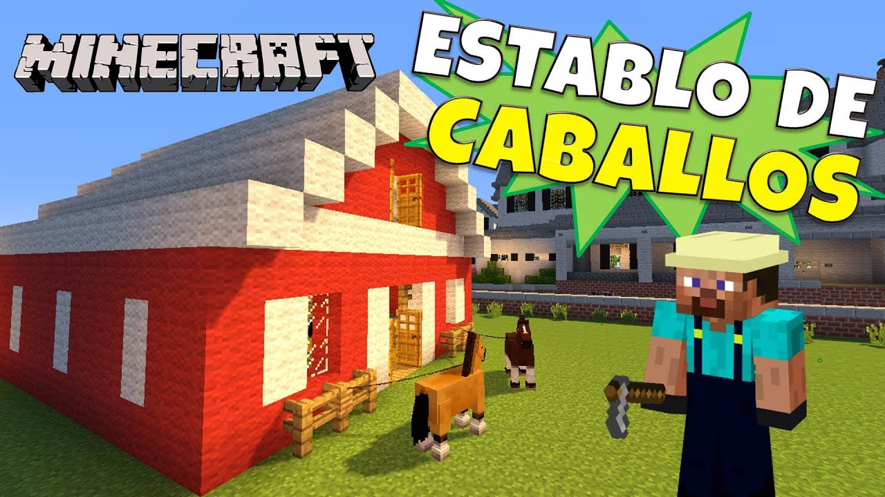 Minecraft establo para caballos tutorial d youtube for Casa moderna rey zerch