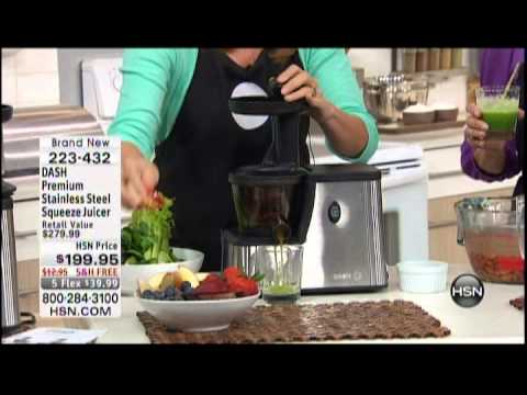 Kelly Diedring Harris Presents The DASH Squeeze Juicer On HSN; 4.8.13