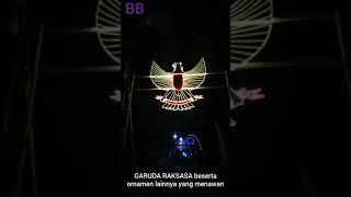 UNIK KREATIF AGUSTUS 2019 DETIK DETIK PEMASANGAN GARUDA RAKSASA ORNAMEN LAMPU HIAS bag 7