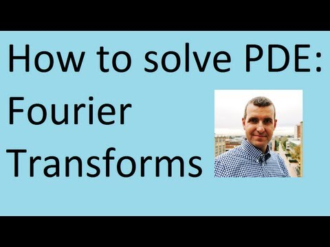How to apply Fourier transforms to solve differential equations