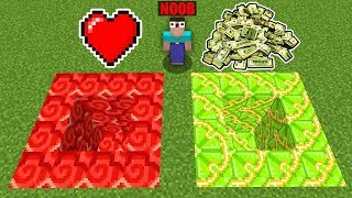 Minecraft Battle: PIT LOVE OR PIT MONEY : TRAPS, TRIALS Challenge in Minecraft