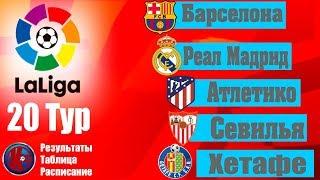 Футбол Ла Лига 2019 2020 Чемпионат Испании 20 тур Результаты Таблица Расписание