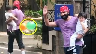 Taimur Ali Khan's CUTE Video While Playing With Dad On Independence Day Outside His Home
