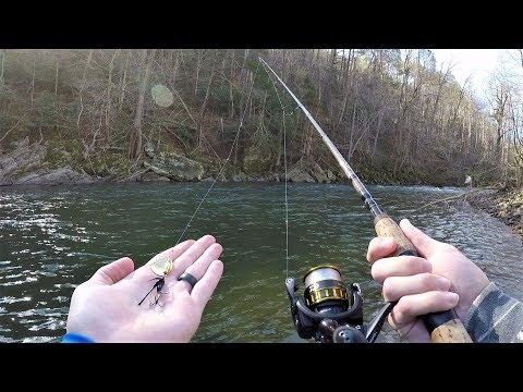 Brook TROUT Fishing with Joe's Flies Spinners