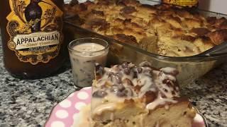 Bread Pudding w Honey Pecan Bourbon Sauce