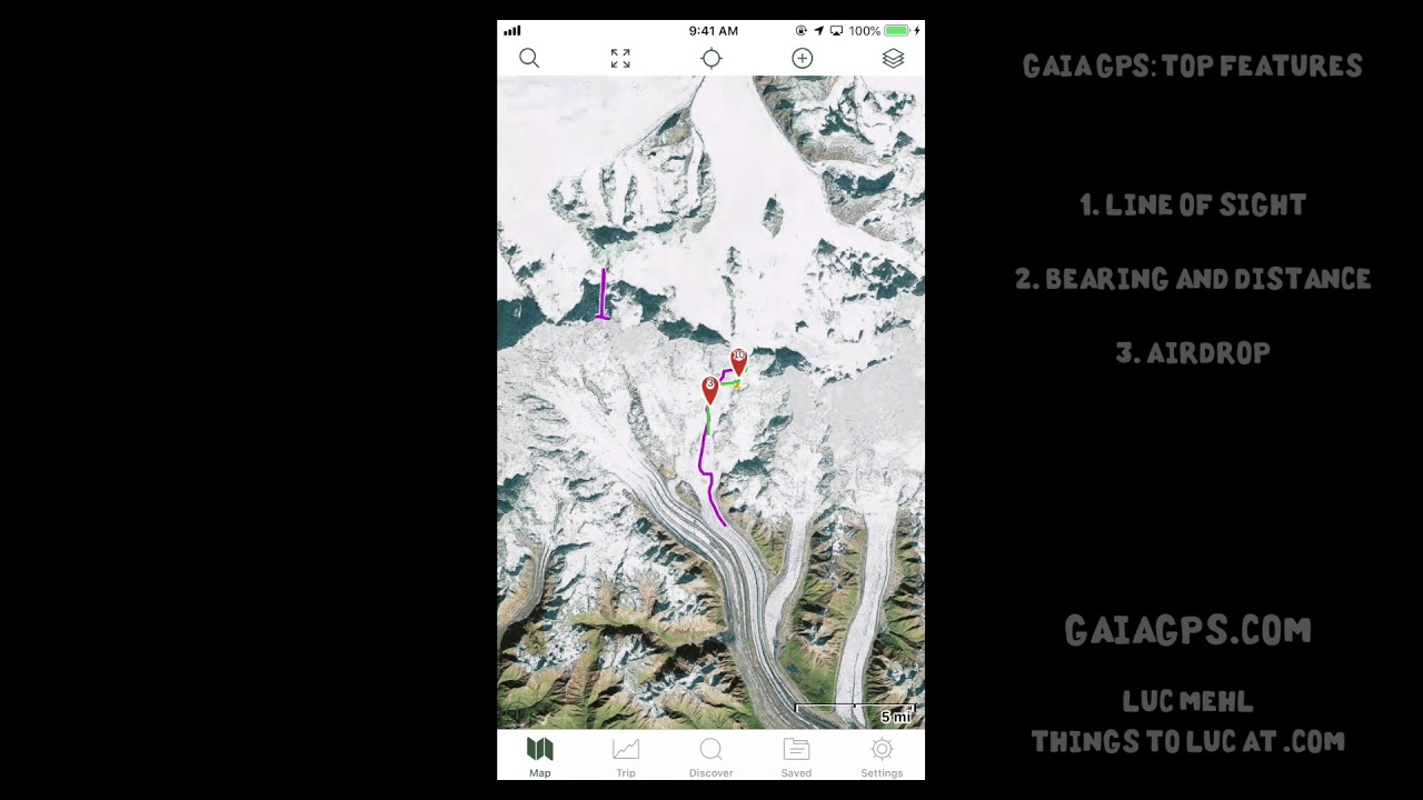 Navigation with Gaia GPS – Things To Luc At