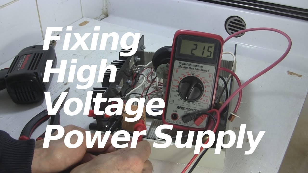 Fixing My High Voltage Power Supply Youtube Regulator Mini 9v 075a By Transistor Electronic