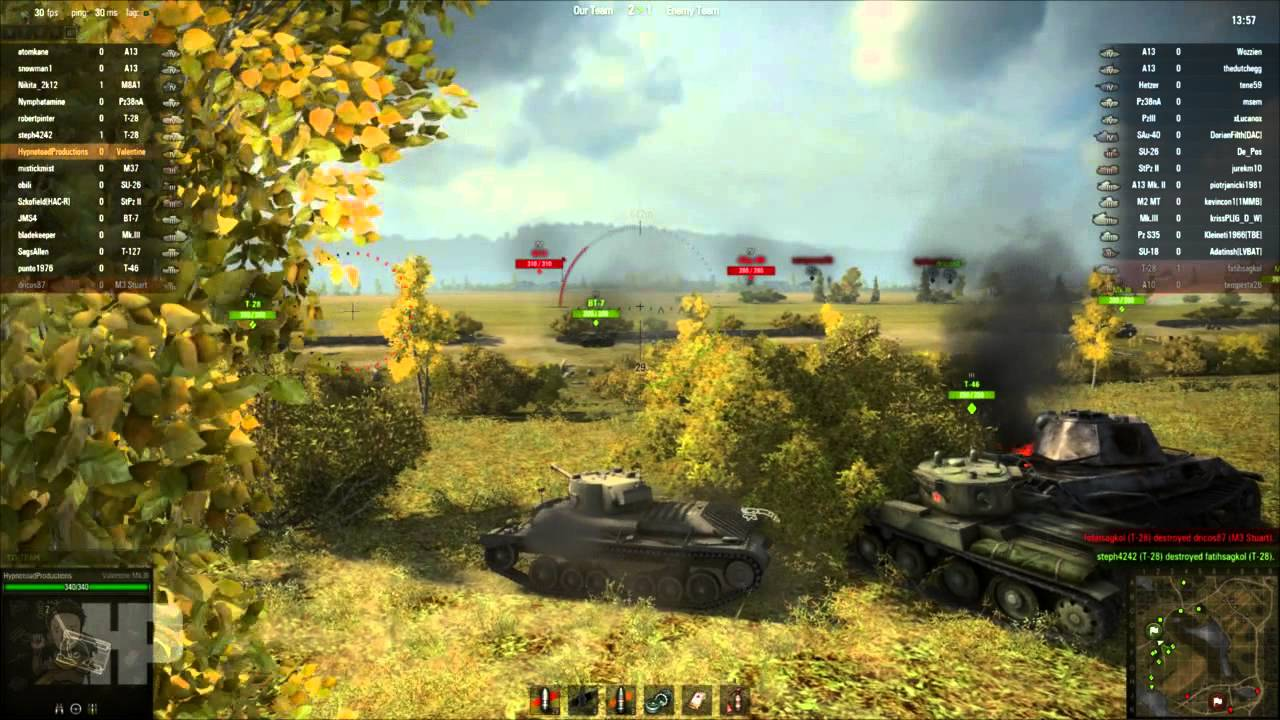 ▻World of Tanks - Valentine: The tank with less than a spank