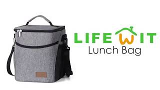 Lifewit 9L Leakproof Lunchbox Adult Men Women with Strap, Insulated Lunch bag Thermal Cooler Bag