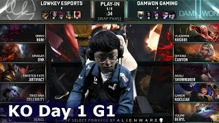 LK vs DWG - Game 1 | Knockouts Play-Ins S9 LoL Worlds 2019 | Lowkey Esports vs DAMWON Gaming G1