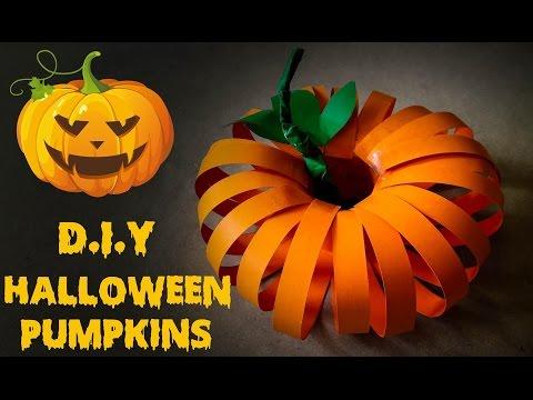 Halloween Craft - How To Make Pumpkin Halloween Using Paper - Pumpkin Halloween Tutorial