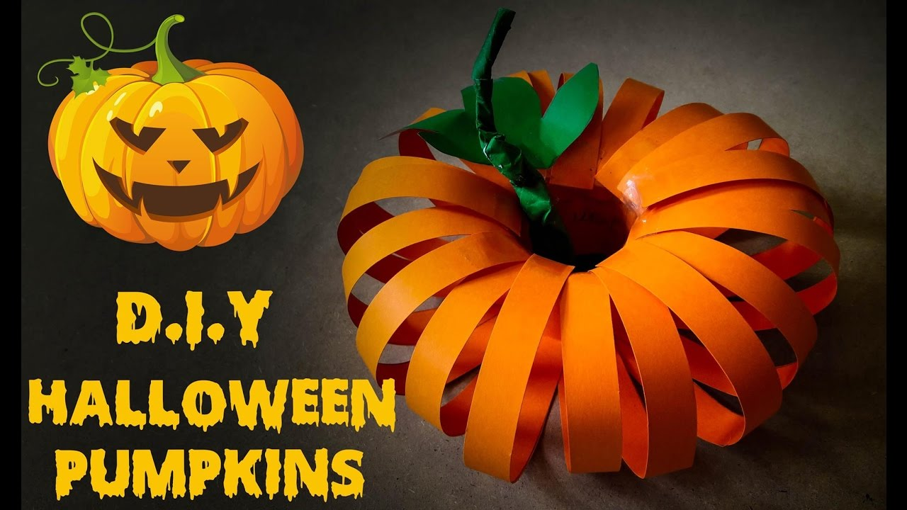 Halloween Craft How To Make Pumpkin Halloween Using Paper