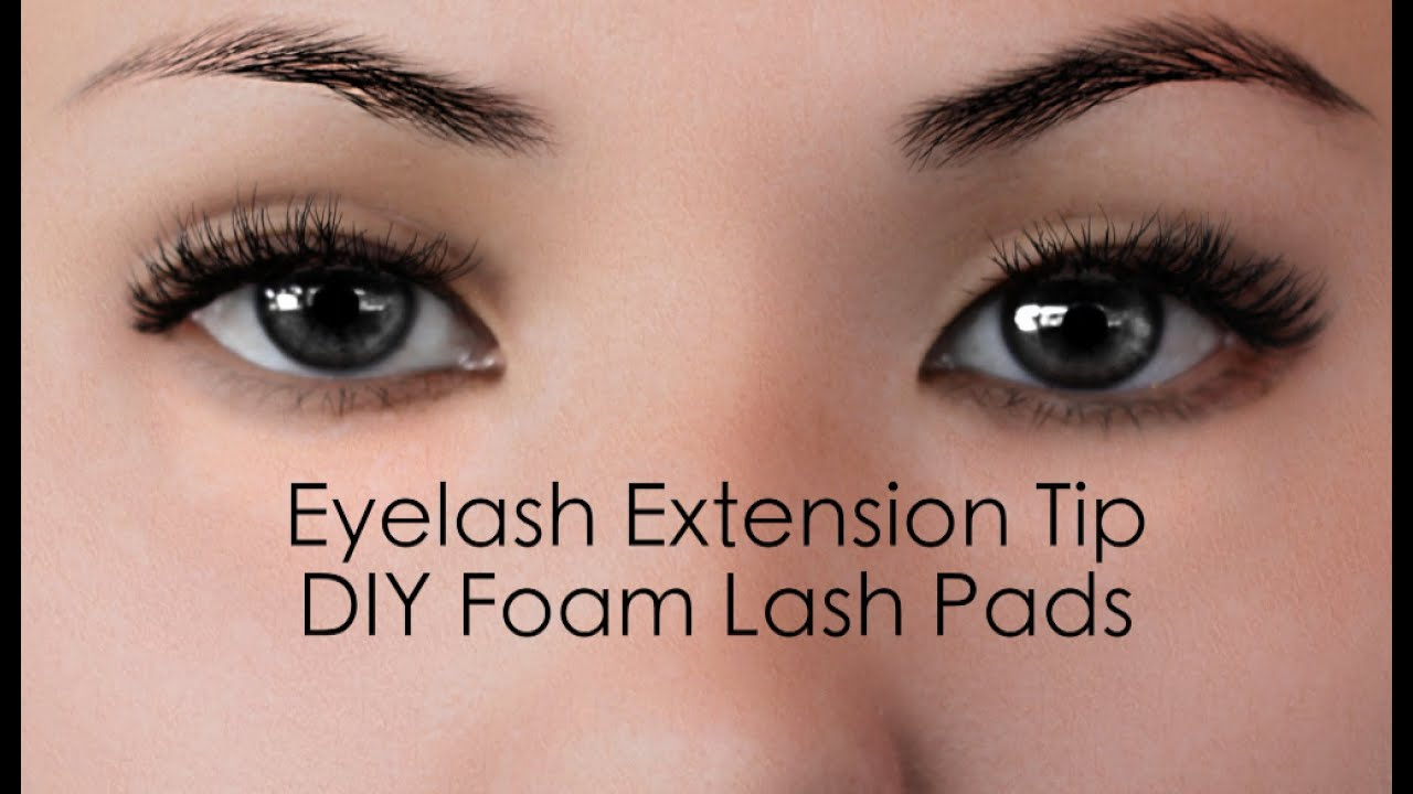 Diy Eyelash Extensions How To Make Eyelash Extension Eye Patchea With 3m Foam