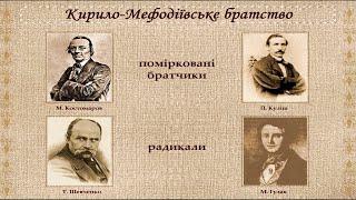 Кирило-Мефодіївське товариство (укр.) Історія України, 9 клас.