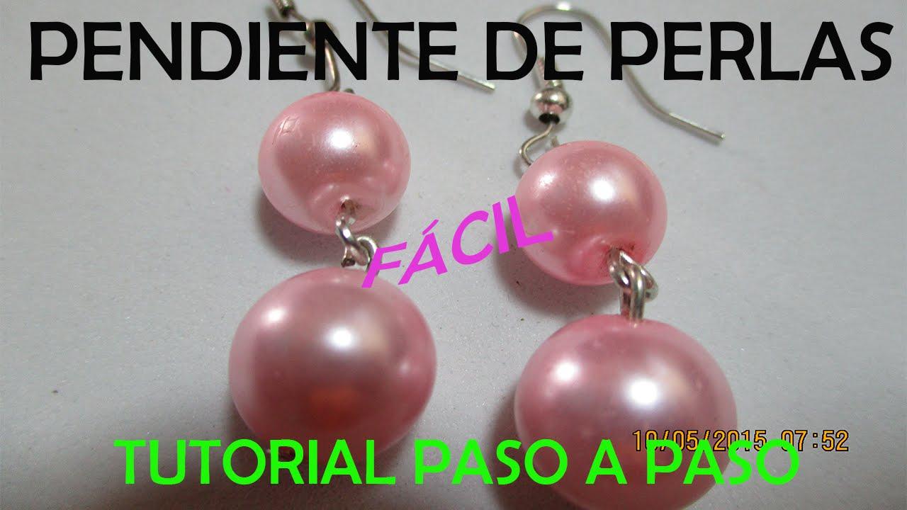 COMO HACER PENDIENTES (ARETES) CON PERLAS │TUTORIAL PASO A PASO │BISUTERIA