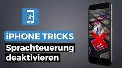 iPhone Sprachsteuerung deaktivieren im Sperrbildschirm