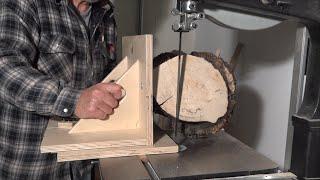 Bandsaw Log Cutting Jig