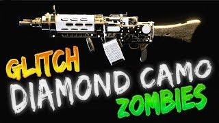 (DIAMOND CAMO) GLITCH - HOW TO GET DIAMOND IN ZOMBIES WITHOUT UNLOCKING IT - BO4 ZOMBIES