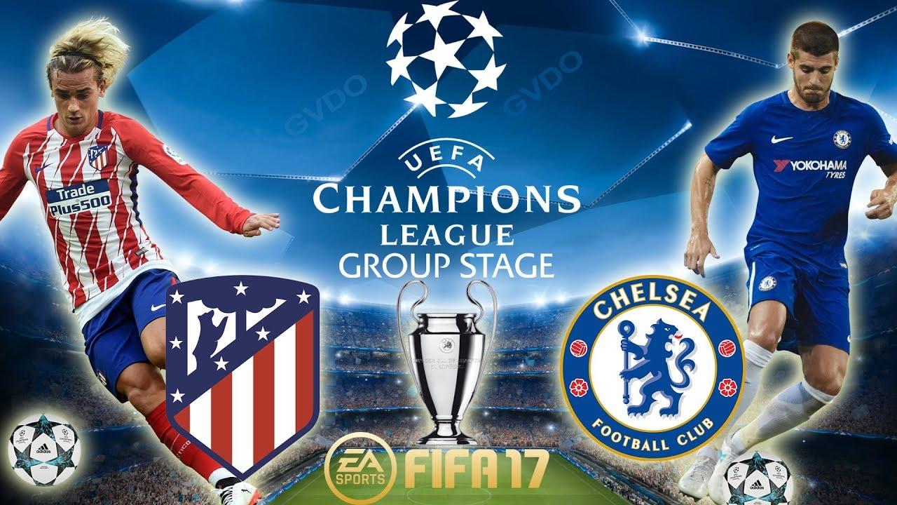 FIFA 17 | Atletico Madrid vs Chelsea | Champions League ...
