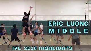 Eric Luong Volleyball Highlights - IVL Men's Open 2018 (Middle Blocker)