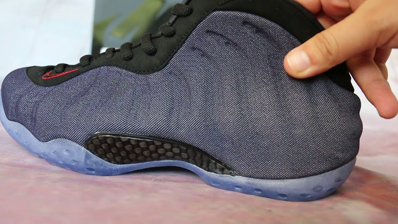 62d3b08510a Nike Air Foamposite One Denim Detail HD SHOW - YouTube