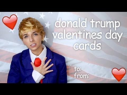 DONALD TRUMP VALENTINE'S DAY CARDS