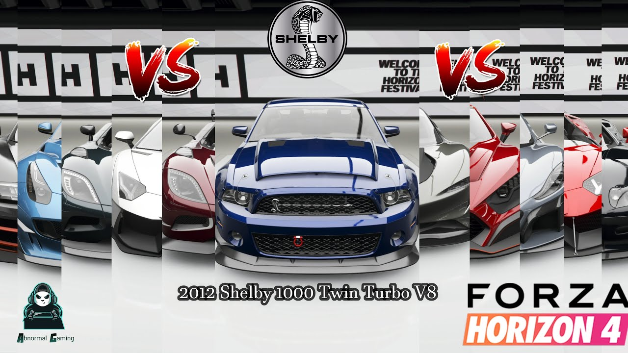 Шелби 1000 Twin Turbo V8 2012 года — ТОП-10 лучших гиперкаров |  Forza Horizon 4 Drag Races |