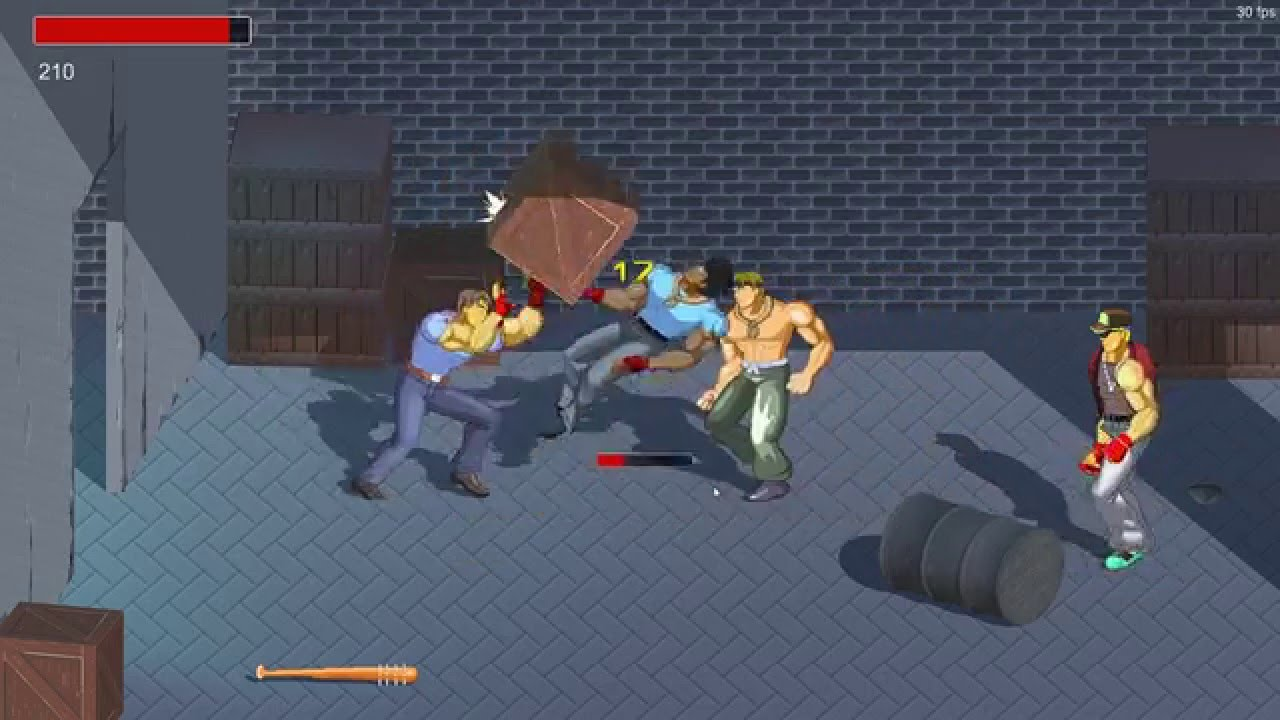 unity3d 2d brawler game beatem up alpha prototype 2