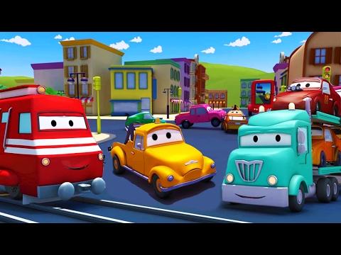 Troy lokomotywa - miasto pociągów -  bajka o maszynach dla dzieci