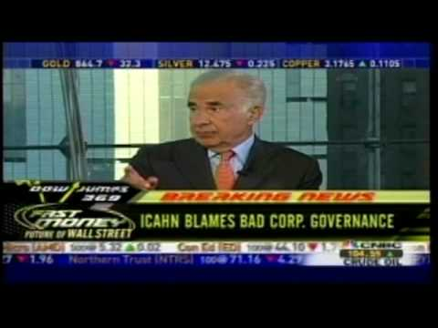 Pt 1) Carl Icahn - FastMoney - Sept. 19, 2008 - How We Got Here
